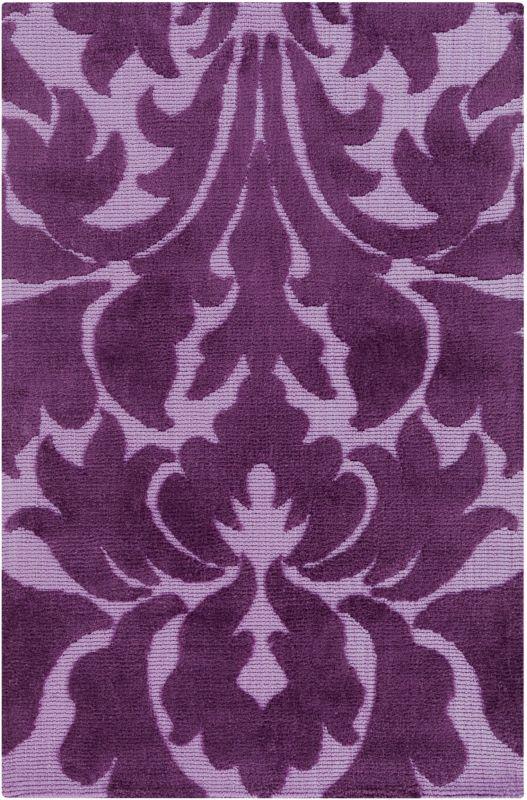Surya ABI-9007 Abigail Power Loomed Polypropylene Rug Purple 3 x 5