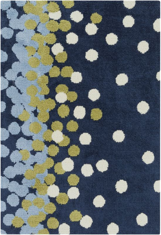 Surya ABI-9052 Abigail Power Loomed Polypropylene Rug Blue 2 x 3 Home