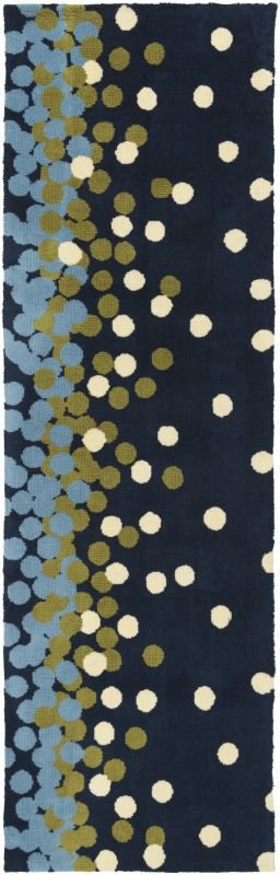 Surya ABI-9052 Abigail Power Loomed Polypropylene Rug Blue 2 1/2 x 8