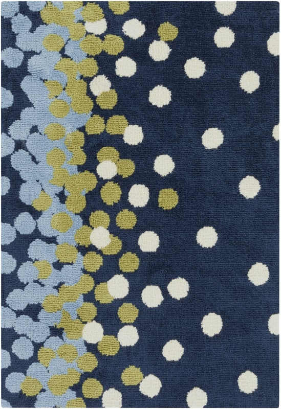 Surya ABI-9052 Abigail Power Loomed Polypropylene Rug Blue 3 x 5 Home