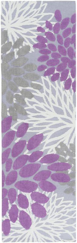 Surya ABI-9055 Abigail Power Loomed Polypropylene Rug Purple 2 1/2 x 8