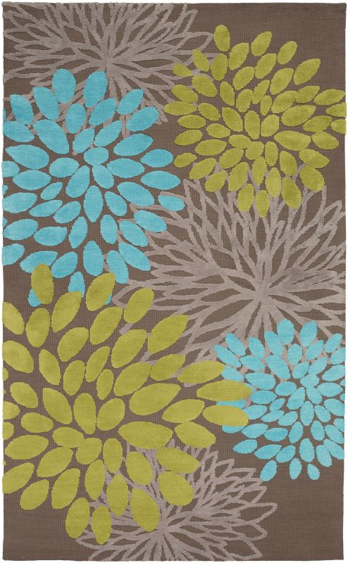 Surya ABI-9057 Abigail Power Loomed Polypropylene Rug Blue 5 x 8 Home