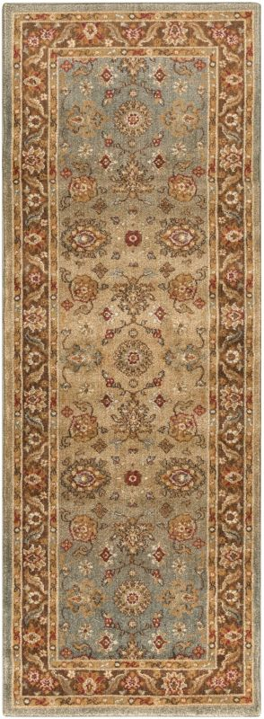 Surya ABS-3011 Arabesque Power Loomed Polypropylene Rug Green 2 1/2 x
