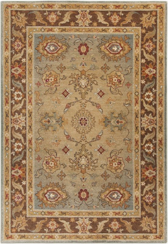 Surya ABS-3011 Arabesque Power Loomed Polypropylene Rug Green 5 x 7