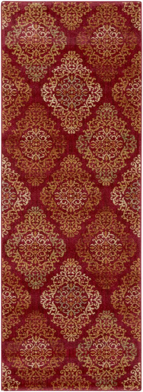 Surya ABS-3014 Arabesque Power Loomed Polypropylene Rug Red 2 x 3 Home