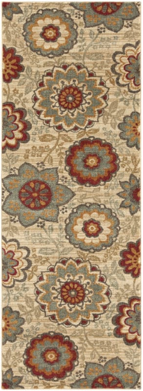 Surya ABS-3015 Arabesque Power Loomed Polypropylene Rug Green 2 x 3