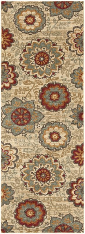 Surya ABS-3015 Arabesque Power Loomed Polypropylene Rug Green 2 1/2 x