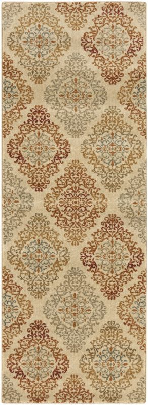 Surya ABS-3018 Arabesque Power Loomed Polypropylene Rug Green 2 x 3