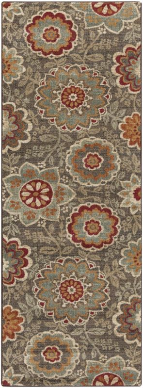 Surya ABS-3020 Arabesque Power Loomed Polypropylene Rug Green 2 1/2 x