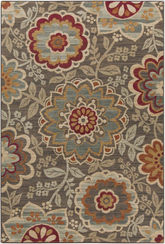 Surya ABS-3020 Arabesque Power Loomed Polypropylene Rug Green 5 x 7