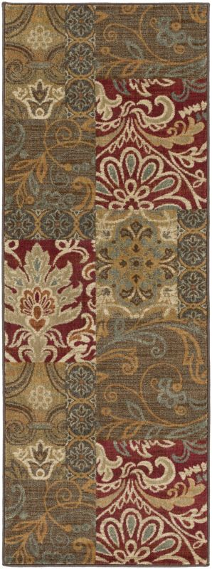 Surya ABS-3025 Arabesque Power Loomed Polypropylene Rug Red 2 1/2 x 4