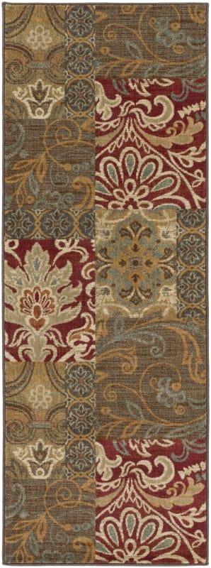 Surya ABS-3025 Arabesque Power Loomed Polypropylene Rug Red 2 1/2 x 7