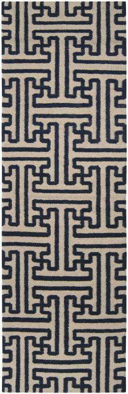 Surya ACH-1700 Archive Hand Woven Wool Rug Blue 2 1/2 x 8 Home Decor