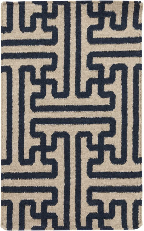Surya ACH-1700 Archive Hand Woven Wool Rug Blue 3 1/2 x 5 1/2 Home