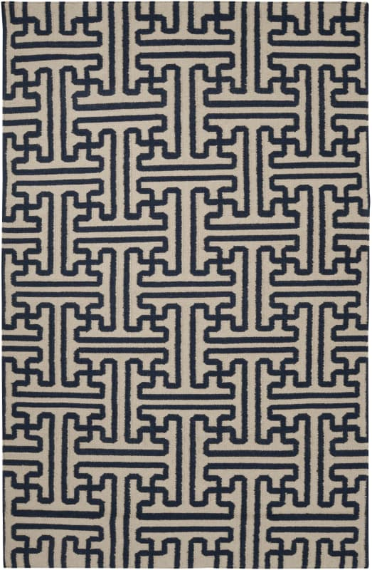 Surya ACH-1700 Archive Hand Woven Wool Rug Blue 5 x 8 Home Decor Rugs