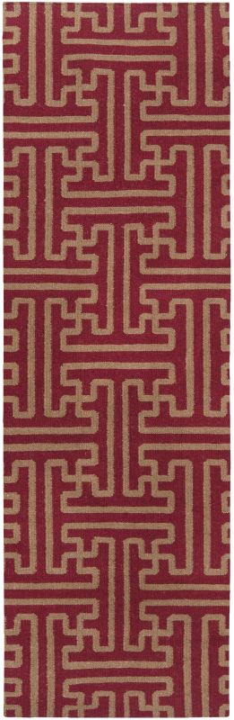 Surya ACH-1701 Archive Hand Woven Wool Rug Red 2 1/2 x 8 Home Decor Sale $142.10 ITEM: bci2656229 ID#:ACH1701-268 UPC: 764262461435 :