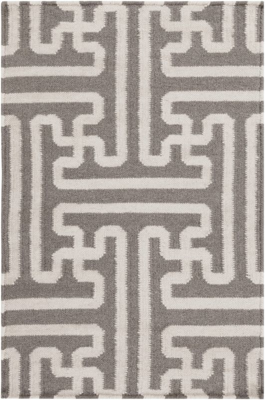 Surya ACH-1702 Archive Hand Woven Wool Rug Brown 3 1/2 x 5 1/2 Home