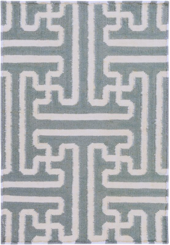 Surya ACH-1703 Archive Hand Woven Wool Rug Gray 2 x 3 Home Decor Rugs