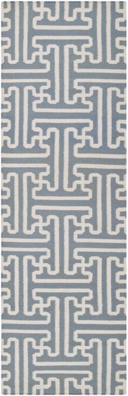 Surya ACH-1703 Archive Hand Woven Wool Rug Gray 2 1/2 x 8 Home Decor