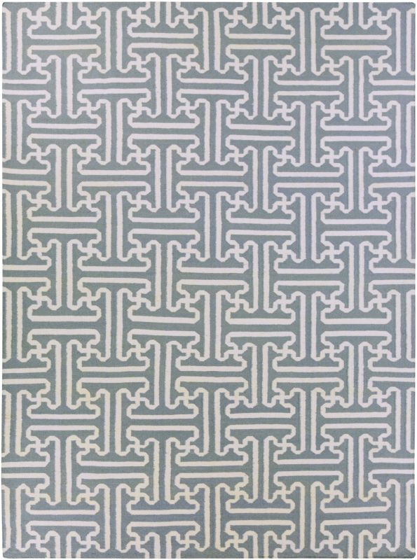 Surya ACH-1703 Archive Hand Woven Wool Rug Gray 8 x 11 Home Decor Rugs