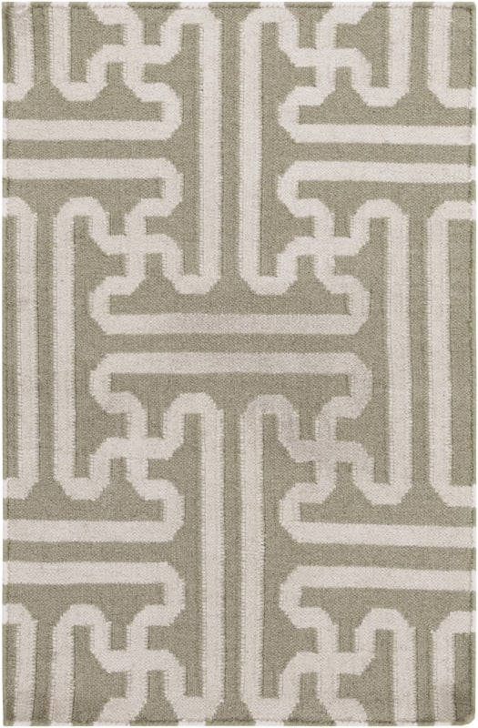 Surya ACH-1705 Archive Hand Woven Wool Rug Brown 3 1/2 x 5 1/2 Home