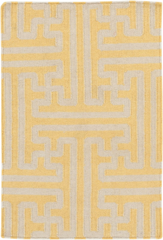 Surya ACH-1707 Archive Hand Woven Wool Rug Gold 2 x 3 Home Decor Rugs