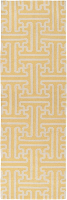 Surya ACH-1707 Archive Hand Woven Wool Rug Gold 2 1/2 x 8 Home Decor