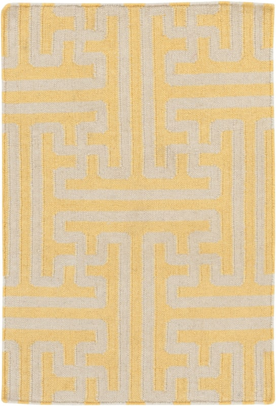 Surya ACH-1707 Archive Hand Woven Wool Rug Gold 3 1/2 x 5 1/2 Home
