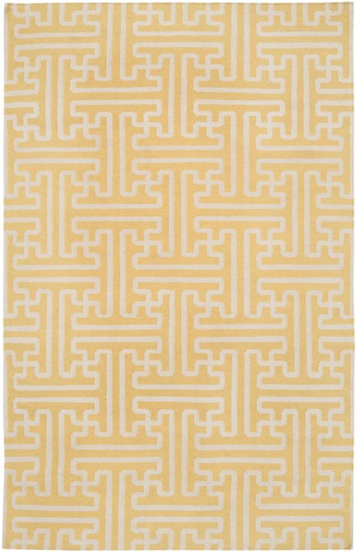 Surya ACH-1707 Archive Hand Woven Wool Rug Gold 5 x 8 Home Decor Rugs