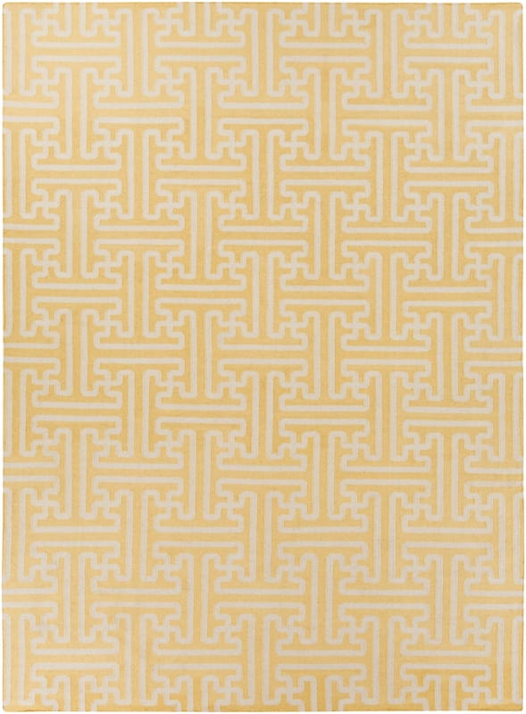 Surya ACH-1707 Archive Hand Woven Wool Rug Gold 8 x 11 Home Decor Rugs