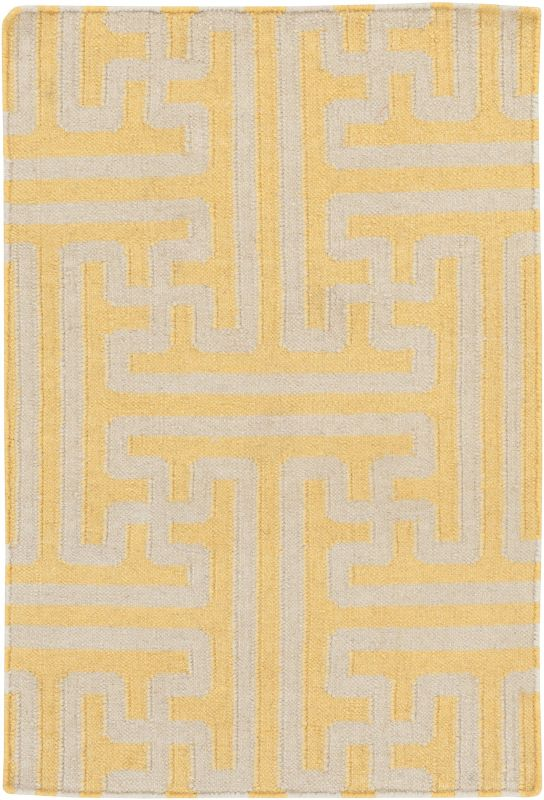 Surya ACH-1707 Archive Hand Woven Wool Rug Gold 9 x 13 Home Decor Rugs