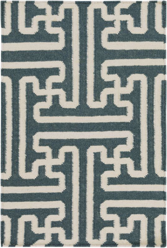 Surya ACH-1708 Archive Hand Woven Wool Rug Green 2 x 3 Home Decor Rugs