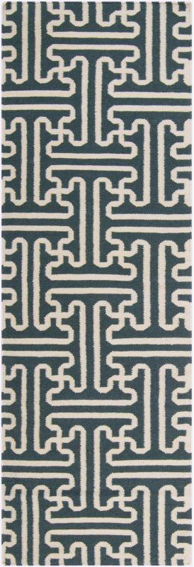 Surya ACH-1708 Archive Hand Woven Wool Rug Green 2 1/2 x 8 Home Decor