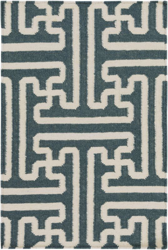 Surya ACH-1708 Archive Hand Woven Wool Rug Green 3 1/2 x 5 1/2 Home