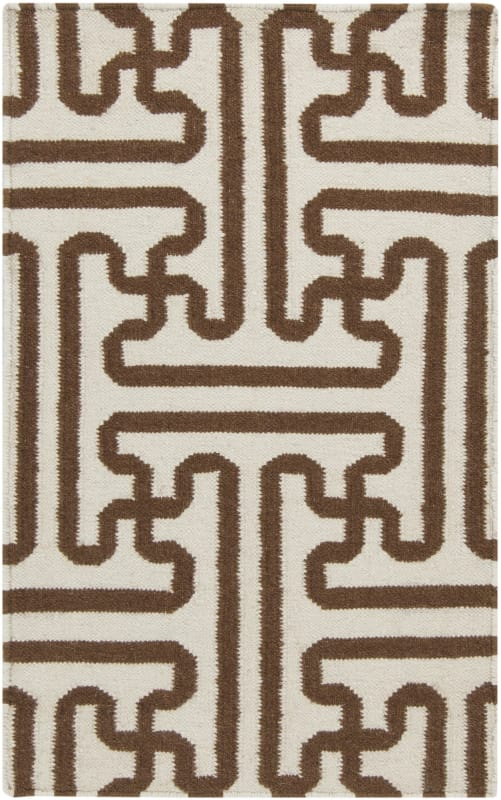 Surya ACH-1709 Archive Hand Woven Wool Rug Brown 2 x 3 Home Decor Rugs