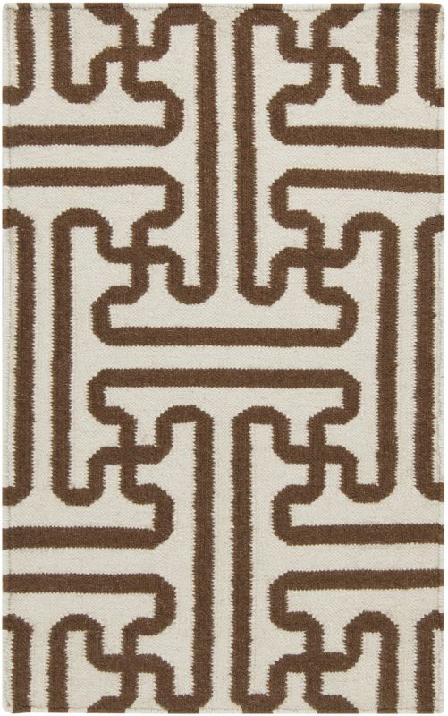 Surya ACH-1709 Archive Hand Woven Wool Rug Brown 3 1/2 x 5 1/2 Home
