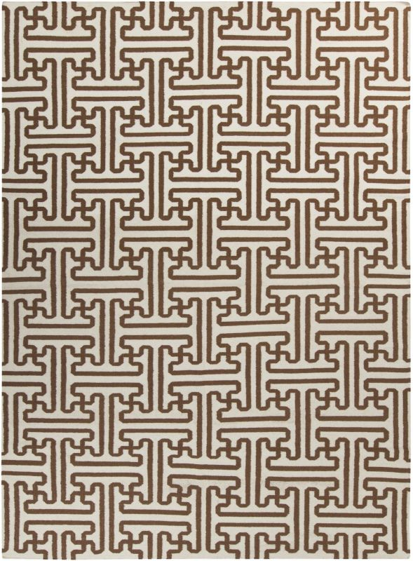 Surya ACH-1709 Archive Hand Woven Wool Rug Brown 8 x 11 Home Decor