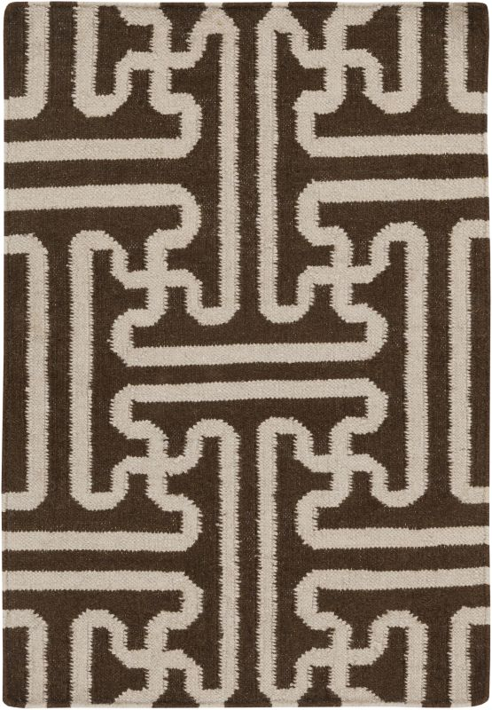 Surya ACH-1710 Archive Hand Woven Wool Rug Brown 2 x 3 Home Decor Rugs