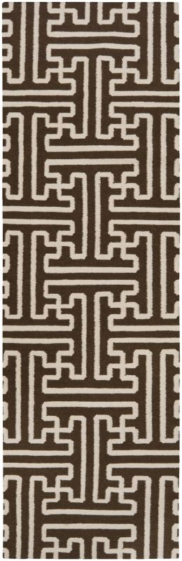 Surya ACH-1710 Archive Hand Woven Wool Rug Brown 2 1/2 x 8 Home Decor