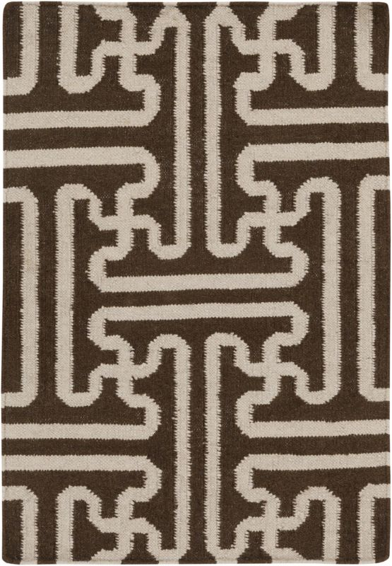 Surya ACH-1710 Archive Hand Woven Wool Rug Brown 3 1/2 x 5 1/2 Home