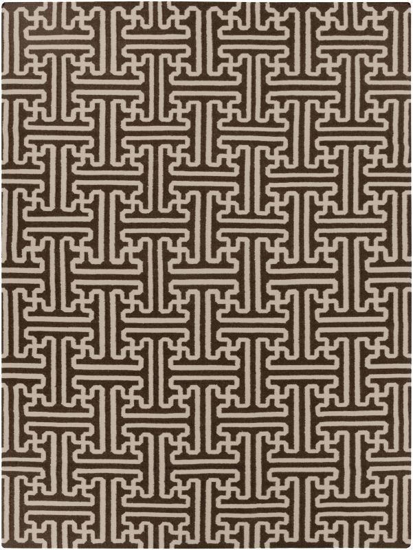 Surya ACH-1710 Archive Hand Woven Wool Rug Brown 8 x 11 Home Decor