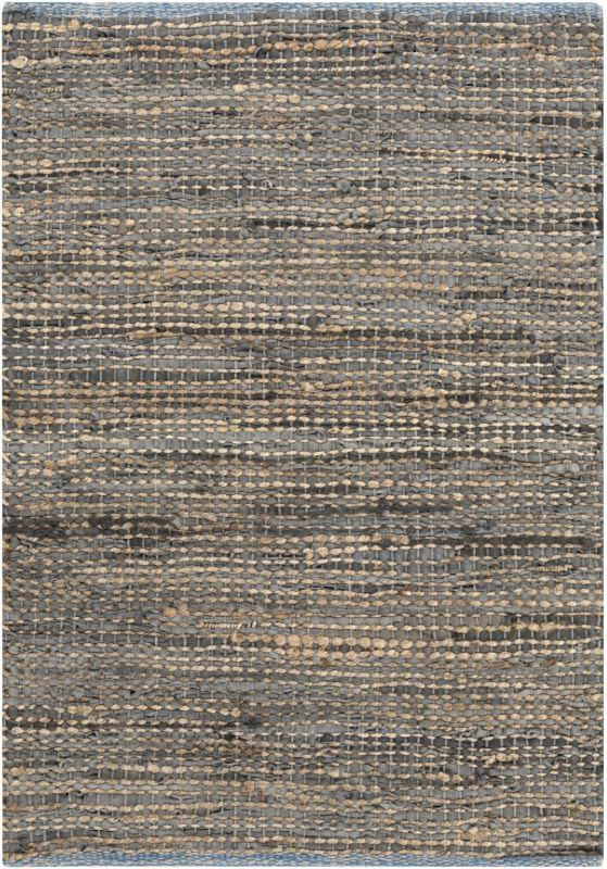 Surya ADB-1000 Adobe Hand Loomed Leather Rug Gray 8 x 11 Home Decor
