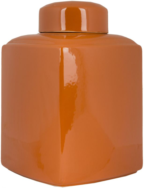 Surya AHJ902-M Ceramic Vase from the Aegean Collection Orange Home