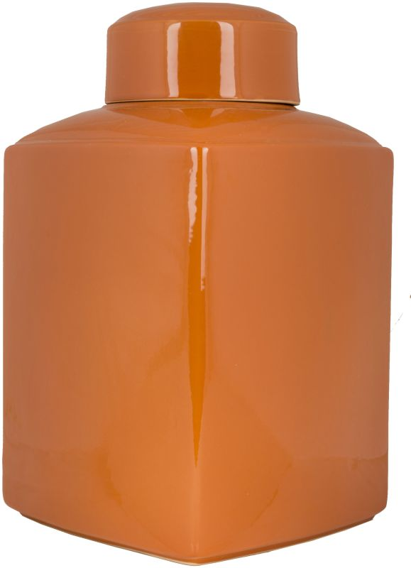Surya AHJ902-S Ceramic Vase from the Aegean Collection Orange Home