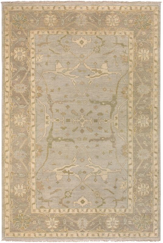 Surya AIN-1000 Ainsley Hand Knotted New Zealand Wool Rug Gray 5 1/2 x