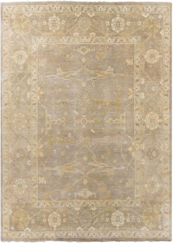 Surya AIN-1000 Ainsley Hand Knotted New Zealand Wool Rug Gray 8 x 11