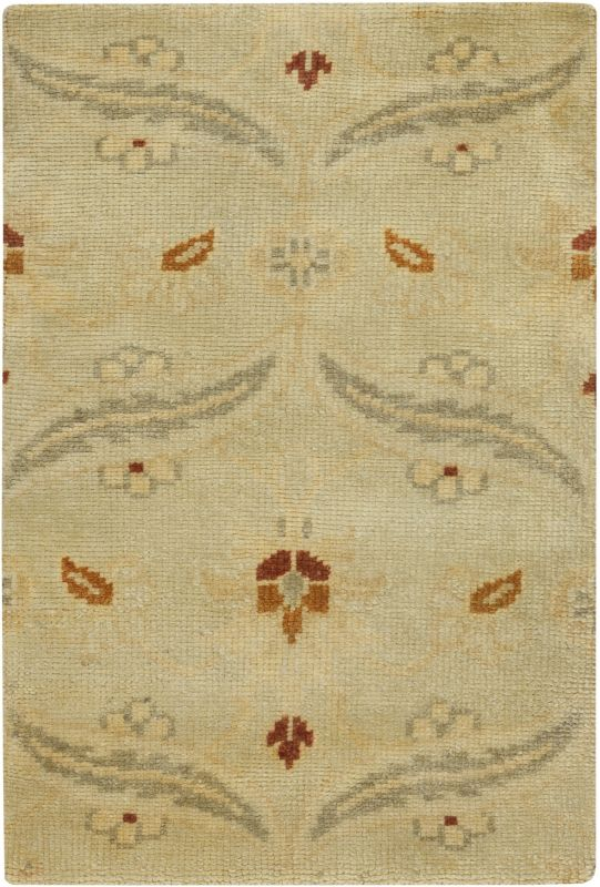 Surya AIN-1014 Ainsley Hand Knotted New Zealand Wool Rug Green 3 1/2 x