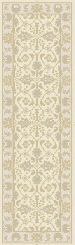 Surya AIN-1017 Ainsley Hand Knotted New Zealand Wool Rug Off-White 2 x