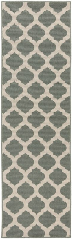 Surya ALF-9585 Alfresco Power Loomed Polypropylene Rug Green 2 x 7 1/2