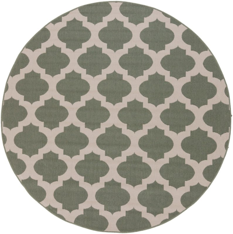 Surya ALF-9585 Alfresco Power Loomed Polypropylene Rug Green 5 x 5